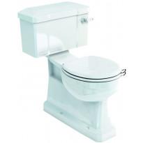 WC-istuin Burlington Close-coupled Slimline, S-lukko, kaksoishuuhtelu, ilman kantta