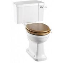 WC-istuin Burlington Close-coupled, P-lukko, kaksoishuuhtelu, ilman kantta