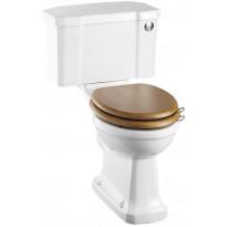 WC-istuin Burlington Close-coupled, huuhtelupainike, P-lukko, kaksoishuuhtelu, ilman kantta