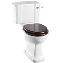 WC-istuin Burlington Close-coupled Slimline, P-lukko, kaksoishuuhtelu, ilman kantta