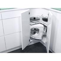 Kulmakaruselli Beslag Design Recorner Maxx ¾, 760mm, valkoinen