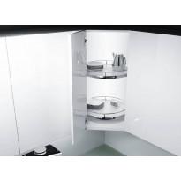 Kulmakaruselli Beslag Design Recorner Maxx, pyöreä, 480mm, valkoinen