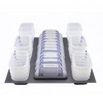 Säilytysrasialaatikko + säilytysrasiat Beslag Design Storewell, 524x525mm, harmaa