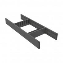 Veitsilaatikko Beslag Design Flex Basic, 200x473/523mm, harmaa/valkoinen