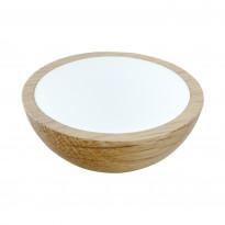 Nuppivedin Beslag Design Wok, Ø 50x20 mm, tammi + valkoinen