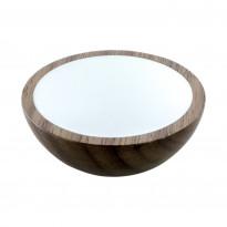 Nuppivedin Beslag Design Wok, Ø 50x20 mm, pähkinä + valkoinen