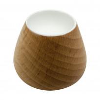 Nuppivedin Beslag Design Flower Bud, Ø 34x29 mm, tammi + valkoinen
