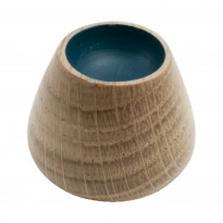 Nuppivedin Beslag Design Flower Bud, Ø 34x29 mm, tammi + petroolinsininen