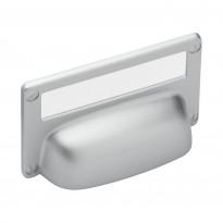 Kuppivedin Beslag Design 15333, 82x52x19 mm, cc 32 mm, taustalevyllä, alumiini