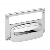 Kuppivedin Beslag Design 15333, 82x52x19 mm, cc 32 mm, taustalevyllä, nikkeli