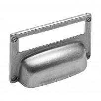 Kuppivedin Beslag Design 15333, 82x52x19 mm, cc 32 mm, taustalevyllä, tina