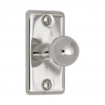 Nuppivedin Beslag Design 5320, 25x50x32 mm, nikkeli + ruuvit