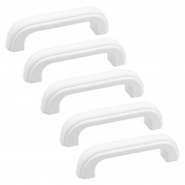 Lankavedinsetti Beslag Design A-1, 5 kpl, 114x20x29 mm, cc 96 mm, valkoinen