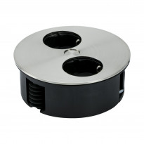 Pistorasia Beslag Design Twist, 230V, Ø 115x42,5mm, 2-osainen, rst