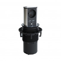 Tornipistorasia Beslag Design Elevator, 230V, Ø 86x132mm, 1 pistorasia + 2 USB, rst-look