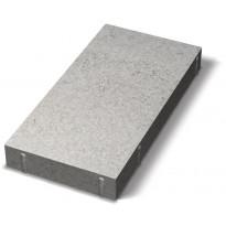 Sileä laatta Benders viisteetön 1/2 420x210x60 mm, harmaa