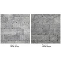 Pihakivi Benders Labyrint/Troja Antik Puolikivi 105x140x50 mm, harmaa sekoitus