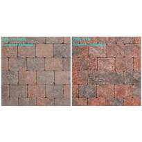 Pihakivi Benders Labyrint/Troja Antik Makro 210x210x50 mm, punainen sekoitus