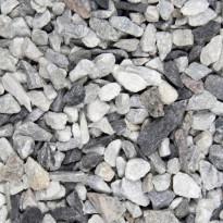 Koristekivi Benders Graniittimurske 16-32 mm, 15 kg säkki, grafiitti/valkoinen