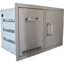 Ulkokeittiön komponentti BeefEater, vetolaatikko + 1 ovi, rst