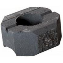 Muurikivi Beto-vallimuuri, päätykivi, 200x200x100mm, musta