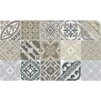 Käytävämatto Beija Flor Eclectic, 78x200cm, beige/harmaa/valkoinen
