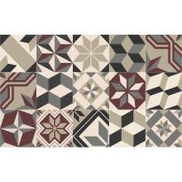 Matto Beija Flor Eclectic Gothic, 60x97cm, viininpunainen/harmaa/beige