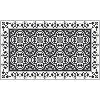 Käytävämatto Beija Flor Portugal, 78x200cm, musta/valkoinen