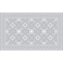 Käytävämatto Beija Flor Havana, 68x180cm, harmaa/valkoinen