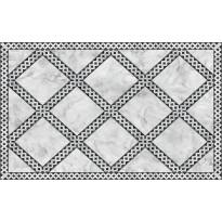 Matto Beija Flor Marble Mosaic, 60x97cm, valkoinen/harmaa/musta