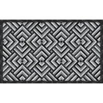 Matto Beija Flor Marble Mosaic-2, 60x97cm, musta/harmaa/valkoinen