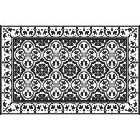 Pöytätabletti Beija Flor Portugal, 33x50cm, musta/valkoinen