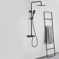 Sadesuihkusetti Bathlife Flod, termostaattihanalla, musta