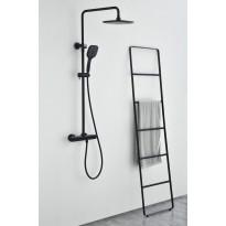 Sadesuihkusetti Bathlife Sjö, termostaattihanalla, musta, Verkkokaupan poistotuote