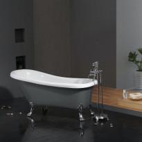 Tassuamme Bathlife Ideal, 1530x670mm, harmaa