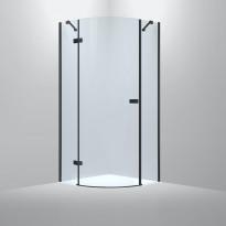 Suihkunurkka Bathlife Diskret, 800x800mm, vasen, musta, Verkkokaupan poistotuote