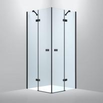Suihkunurkka Bathlife Sober, 800x800mm, musta, Verkkokaupan poistotuote