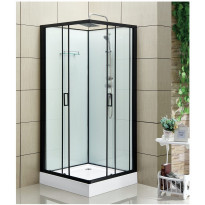 Suihkukaappi Bathlife Rymd, 900x900mm, musta