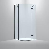 Suihkunurkka Bathlife Diskret, 800x800mm, oikea, musta, Verkkokaupan poistotuote