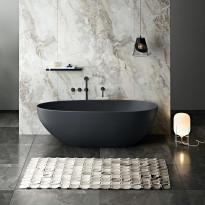 Kylpyamme Bathlife Klok, 1800x840mm, musta
