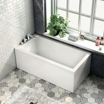 Kylpyamme Bathlife Kry, 1600x800mm, vasen, valkoinen
