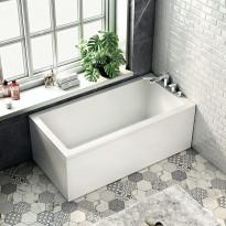 Kylpyamme Bathlife Kry, 1600x800mm, oikea, valkoinen