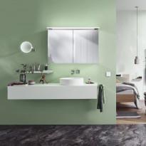 Peilikaappi LED-valaisimella Bathlife Glänsa, 1000mm, valkoinen