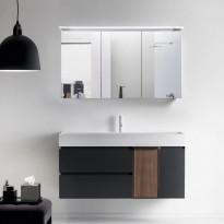 Peilikaappi LED-valaisimella Bathlife Glänsa 1200, valkoinen