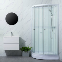 Suihkukaappi Bathlife Ideal pyöreä 900 x 900 mm
