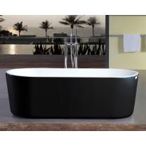 Kylpyamme Bathlife Ideal Rund, 1600mm, vapaasti seisova, musta