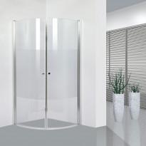 Suihkunurkka Bathlife Ideal, puolipyöreä, 800x800mm, osittain huurrettu