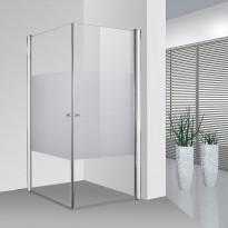 Suihkunurkka Bathlife Ideal, suorakulma, 900x900mm, osittain huurrettu