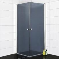 Suihkunurkka Bathlife 800, 800x800mm, kulmikas, tumma