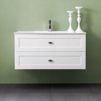 Allaskaappi Bathlife Salig 1000, valkoinen, 1000x500x460mm